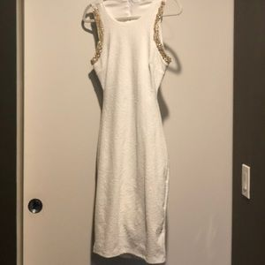 Just Me Dresses - Just Me White Cocktail Dress
